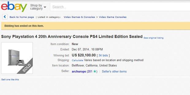PS4-Sonderedition erzielt Rekord-Preise