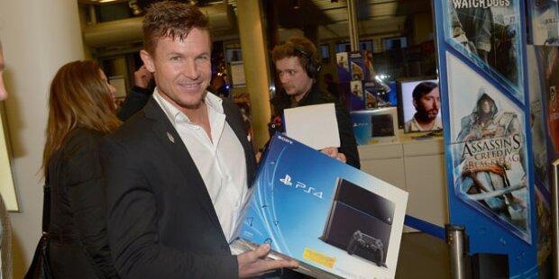 Promi-Auflauf beim Playstation 4-Start