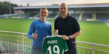 Mattersburg verpflichtet Stürmer Pusic