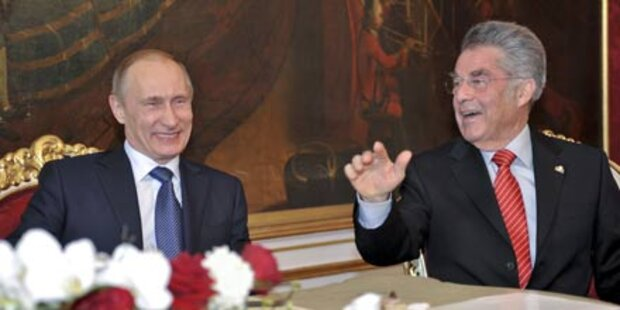 Putin in Wien: Gute Beziehungen betont