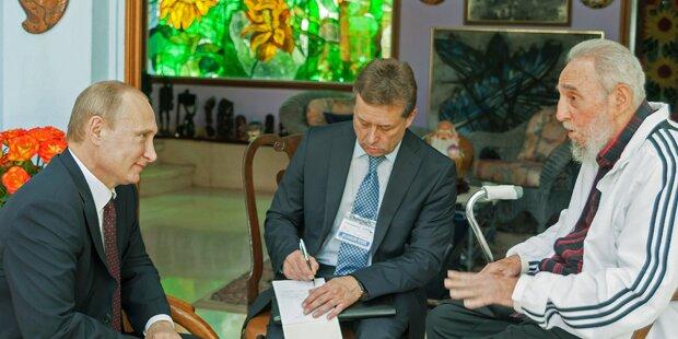 Hier trifft Putin Fidel Castro