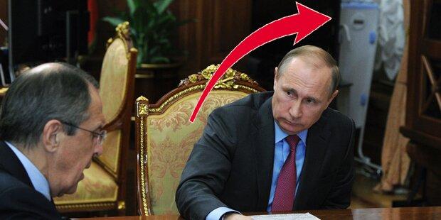 Rätselraten um mysteriöses Ding in Putin-Büro