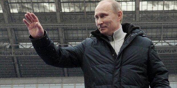 Zar Putin feiert