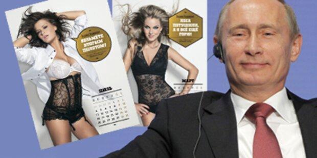 Sexy Studentinnen gratulieren Putin