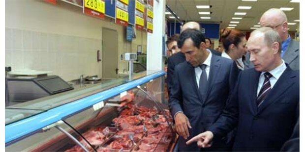 Putin nörgelte bei Supermarktbesuch