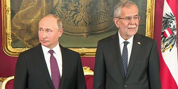 Putin in Wien gelandet!
