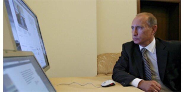 Eigene Internetseite informiert über Putins Arbeit