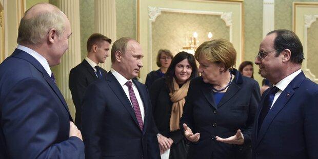 Ukraine-Gipfel: Einigung auf Waffenruhe