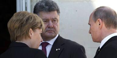 Putin Poroschenko Merkel
