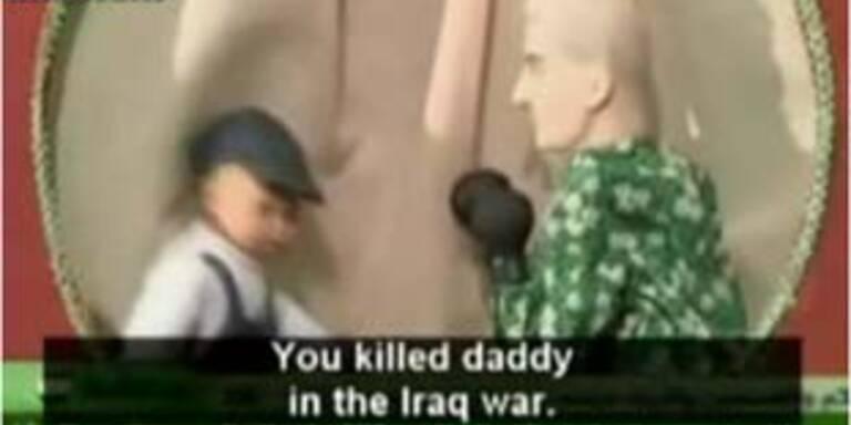 Hamas-Puppe tötet Bush im Kinder-TV
