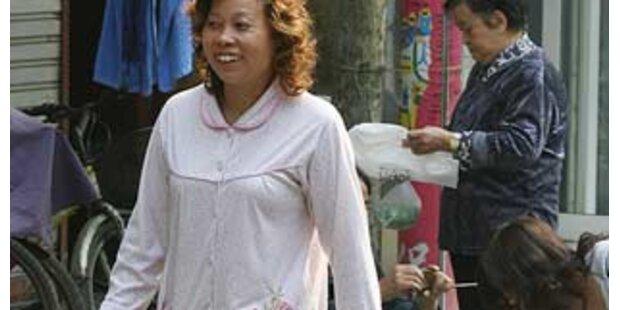 Pyjama-Verbot auf Shanghais Straßen