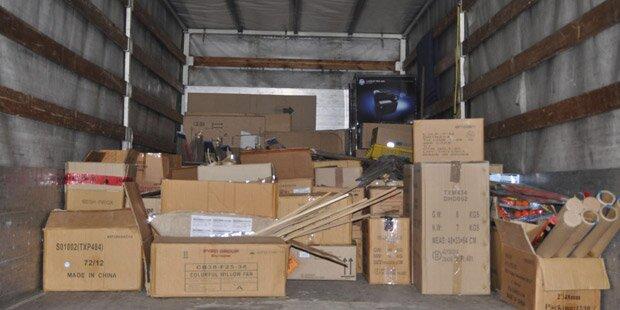 1,5 Tonnen illegale Kracher gelagert