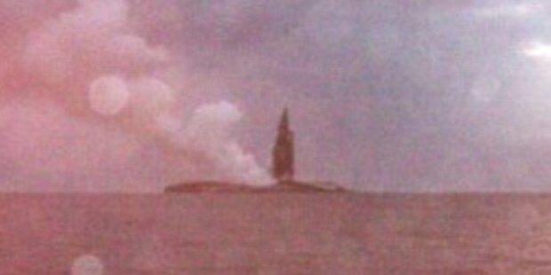 Segler beobachten Geburt einer Insel
