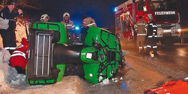 Quad-Horror: Lenker (32) von Fahrzeug erdrückt