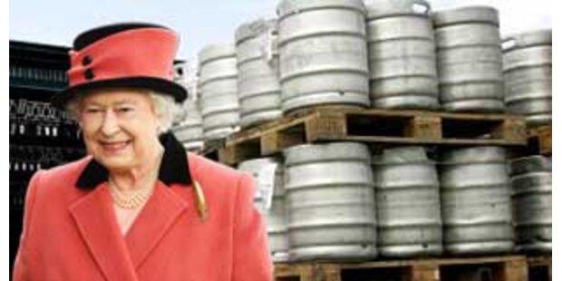 Queen bekam mehr als 1.000 Liter Bier geliefert