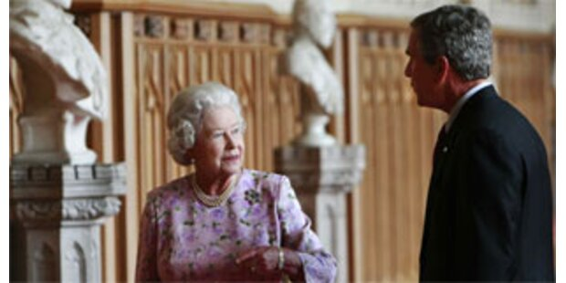 Bush traf Queen zum Tee auf  Windsor