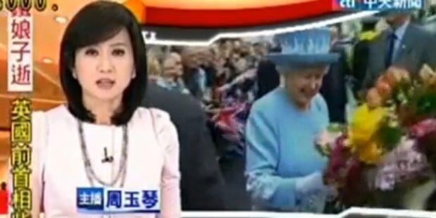 TV verwechselte Queen mit Thatcher