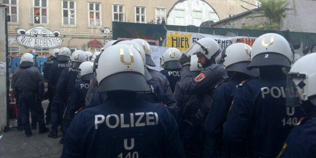 Besetztes Haus in Wien geräumt