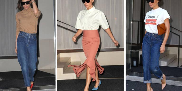 Diese Farbe hat Victoria Beckham aus ihrer Garderobe verbannt