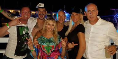 Promi Big Brother-Party auf Ibiza: Marcus von Anhalt, Ben Tewaawg, Dolly Dollar, Frank Stäbler, Natascha Ochsenknecht, Mario Basler