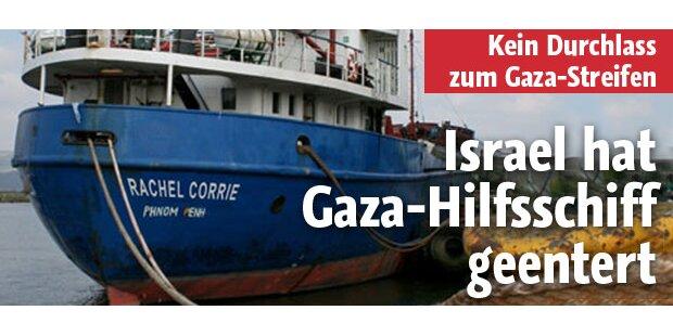 Gaza-Hilfsschiff von Israelis geentert