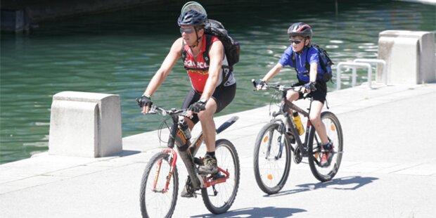 Telefonieren am Fahrrad  bei Strafe verboten