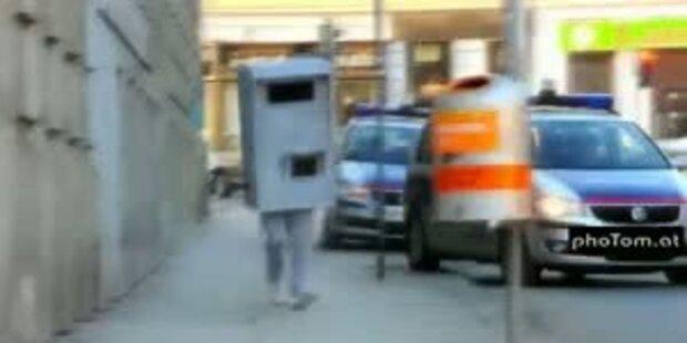 Menschliche Radarfalle macht Wien unsicher