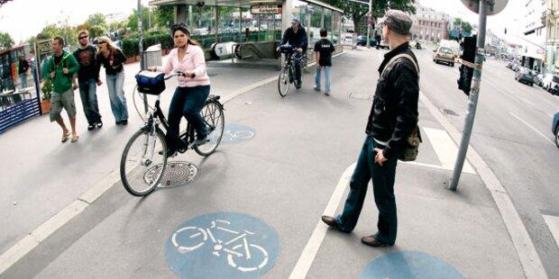 Radfahrer fühlen sich in Wien immer wohler
