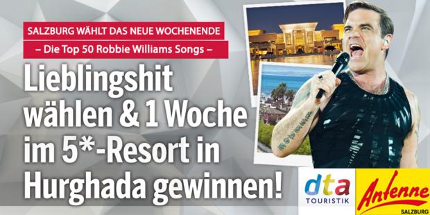 Salzburg wählt die Top 50 Hits von Robbie Williams