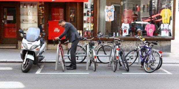 Aktion scharf gegen Radfahrer