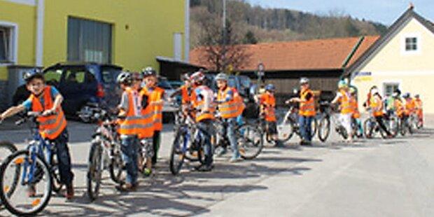 9 Kinder bei Fahrrad-Prüfung durchgefallen