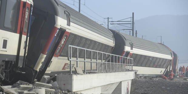 Zugsunglück in der Schweiz