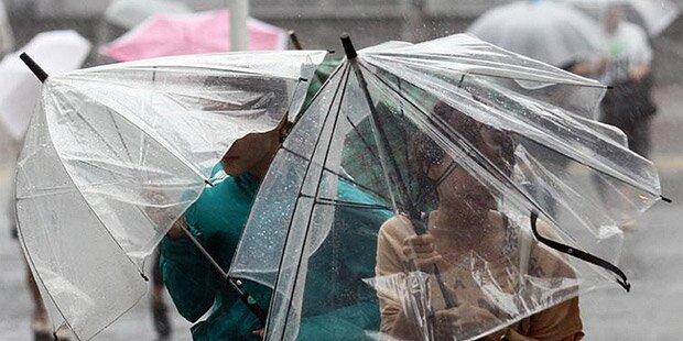 Regenwarnung für Teile Österreichs