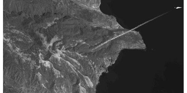 Erste Satellitenfotos von Raketenstart