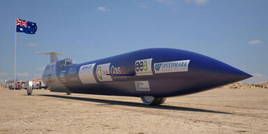 Raketen-Auto will neuen Speed-Rekord