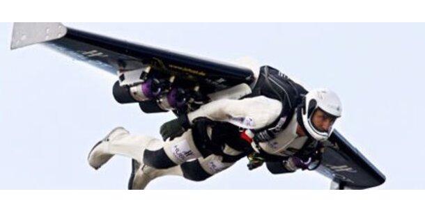 Raketenmann hat Ärmelkanal überflogen