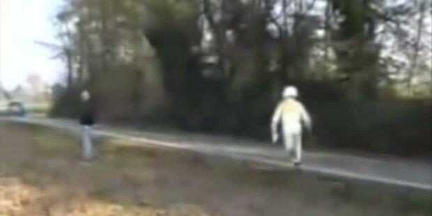 Rallyefahrer vergisst nach Unfall Co-Pilot
