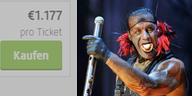 Irre: Stehplätze für Rammstein um 1.177 Euro!