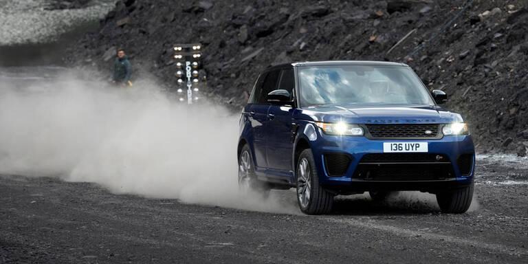 Beschleunigungstests mit Top-Range-Rover