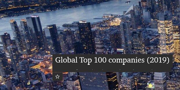 Die 100 wertvollsten Firmen der Welt