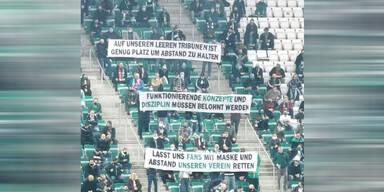 Rapid-Fans mit Botschaft an die Regierung