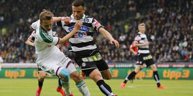 2:2 - Rapid verliert Punkte bei Sturm Graz