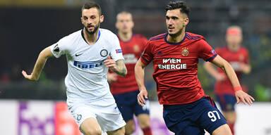 4:0 - Inter schießt Rapid aus Europacup
