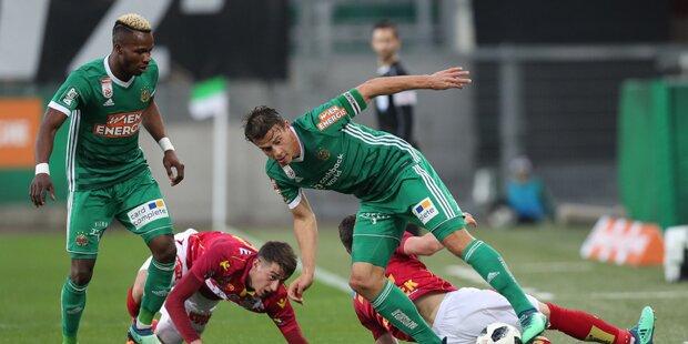 Rapid müht sich zu Sieg gegen St. Pölten