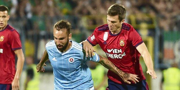 1:2 - Selbstfaller von Rapid gegen Slovan