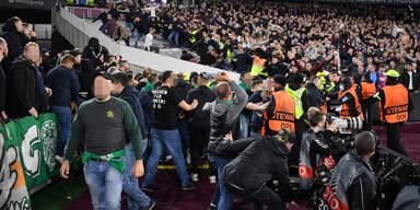 Rapid-Fans sorgen für Prügel-Eklat