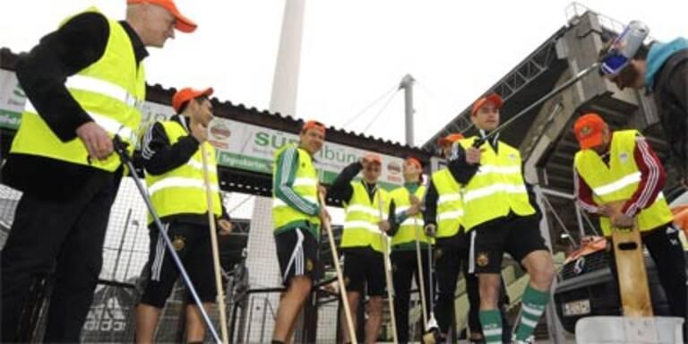 Rapid sorgt für sauberes Hanappi-Stadion