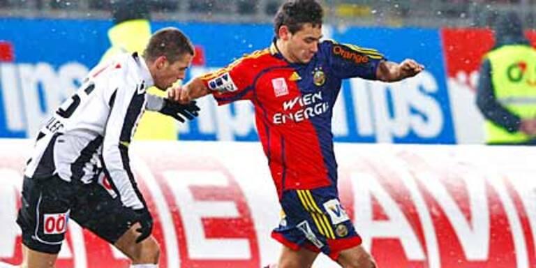 Rapid stolpert zu 0:0 gegen LASK