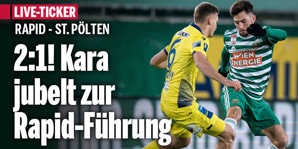 Rapid mit Sieg gegen St. Pölten wieder Erster
