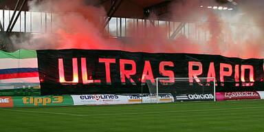 Pyro-Strafen: Ultras geben Rapid Schuld